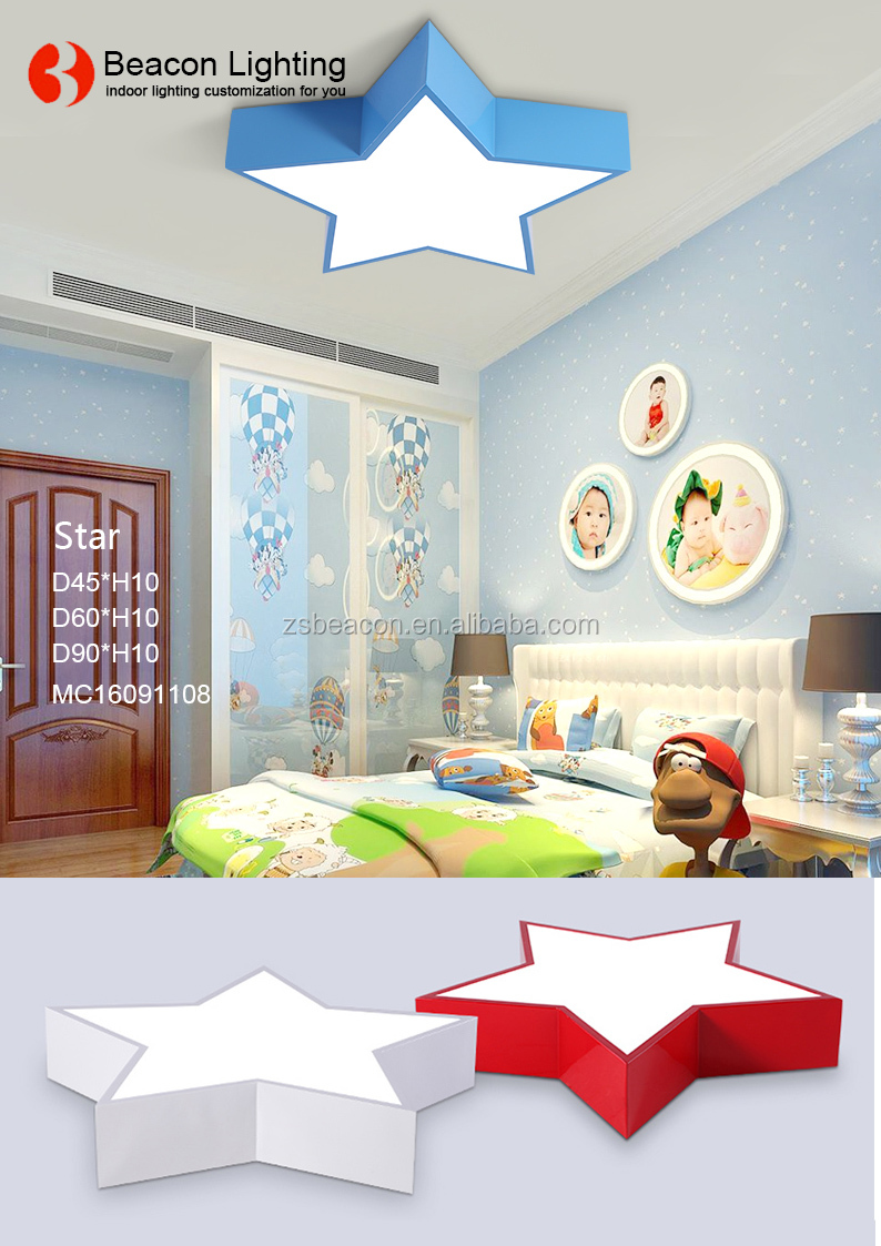 personalized color hexagon group kids led ceiling light lamp for children's bedroom kindergarten child care center infants' s