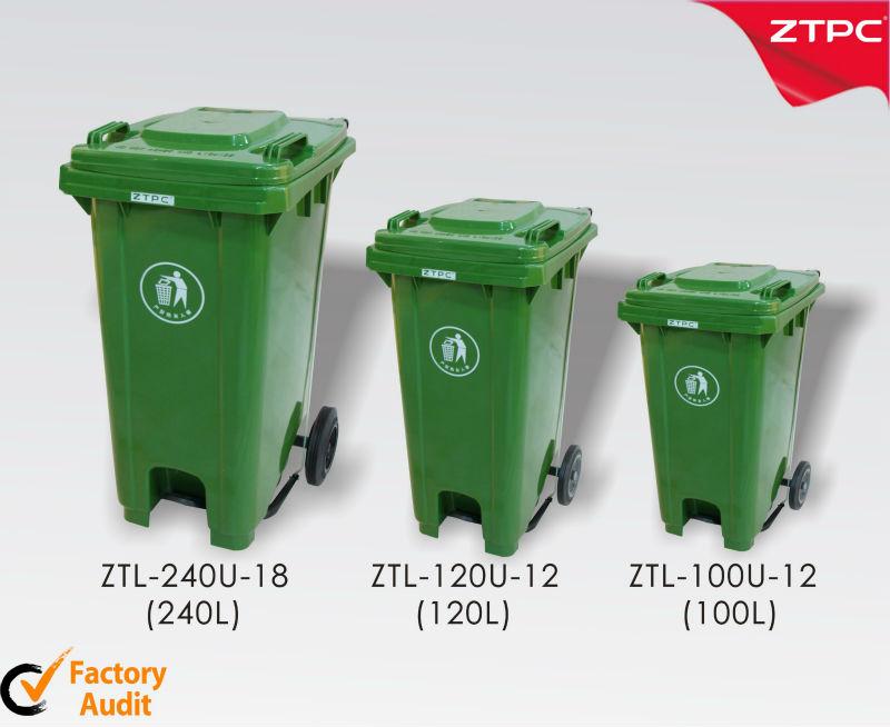100l 120l 240l Mulleimer Plastikmulleimer Mit Pedal Buy Kunststoff