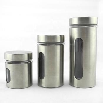 Stainless Steel L Kitchen Glass Storage Canister Sets - Buy Stainless Steel  Canister Sets,Kitchen Canister Sets,Unique Canister Sets Product on ...