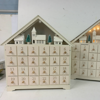2019 christmas wood container advent calendar home decoration