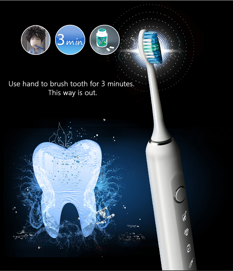 on promotion Electric Sonic Toothbrush massage electronic toothbrush Soft Bristle Tooth Brush