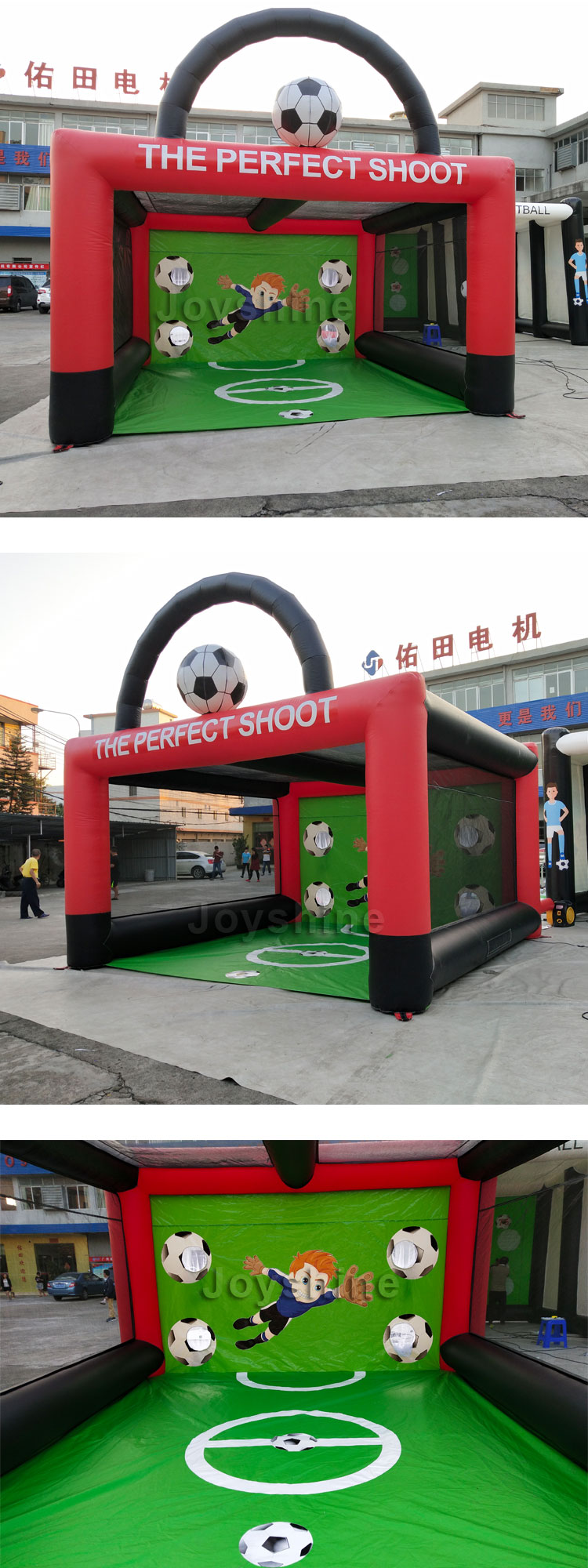 Portable Inflatable Soccer Football Post Kick Target Shootout Game Soccer Goal For Adults and Kids