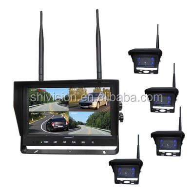 100% Factory Supplier IP69K Waterproof 2.4G Digital Wireless Tractor Reverse Camera with Monitor