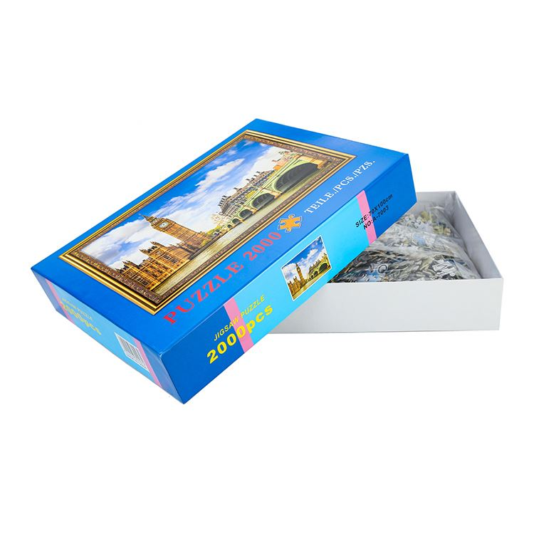 High quality 2000 pieces children reasonable price colorful puzzle pieces