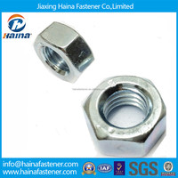 Stock DIN934 Steel hex head White Zinc Nut
