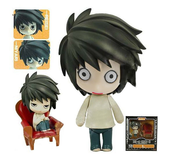 New Hot Anime Death Note L Lawliet 4'' Figure Box Set Free