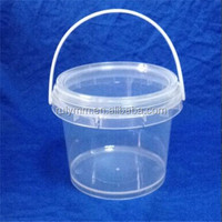 Hot sale new material pp food grade plastic bucket used for ice cream