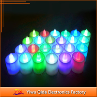 Birthday RGB Remote Controller Rechargeable Tea Light LED Candle christmas candle