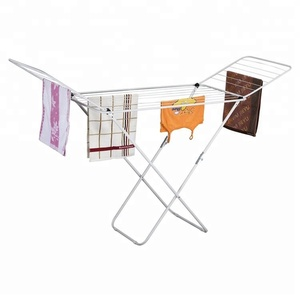 128-53CW home free standing folding wire clothes drying rack with powder coated