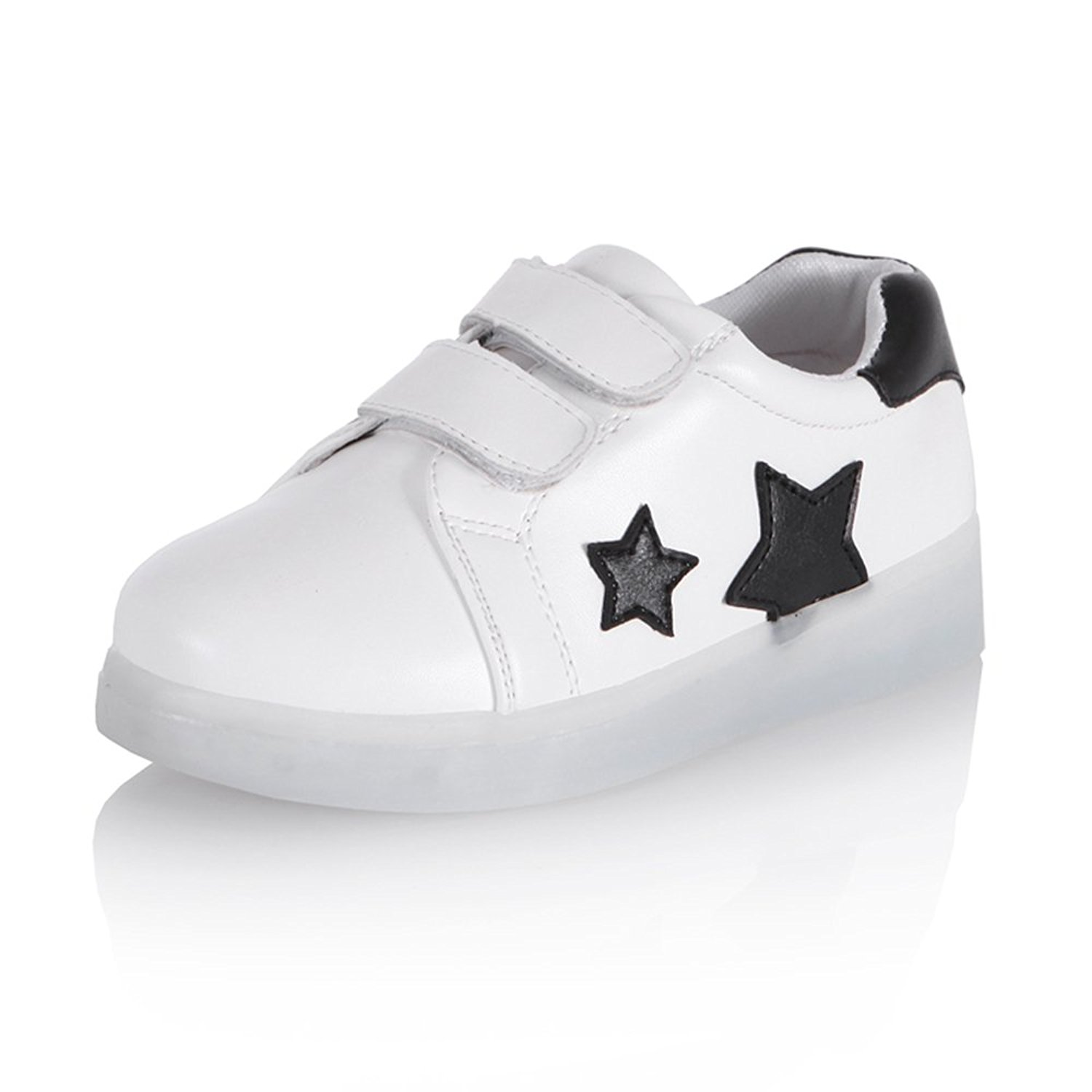 4d9a7b65ceaf Get Quotations · Led kid Light Up Shoes Boys Girls Trainers Star Trainers 7  Colors Light USB Charge Best