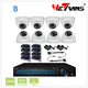 HD KIT-2408S-B HD 720P Camera 24 IR LEDs 20m Night Vision Dome Indoor H.264 P2P CCTV DVR 8CH CCTV H.264 4CH DVR Combo CCTV Camer
