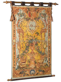 A Large Antique Wall Tapestry Design Luxury Full Length Golden Wall Hanging Decor Bf11 08171b Buy Golden Tapestry Classic Wall Painting Tapestry Wall Hanging Product On Alibaba Com