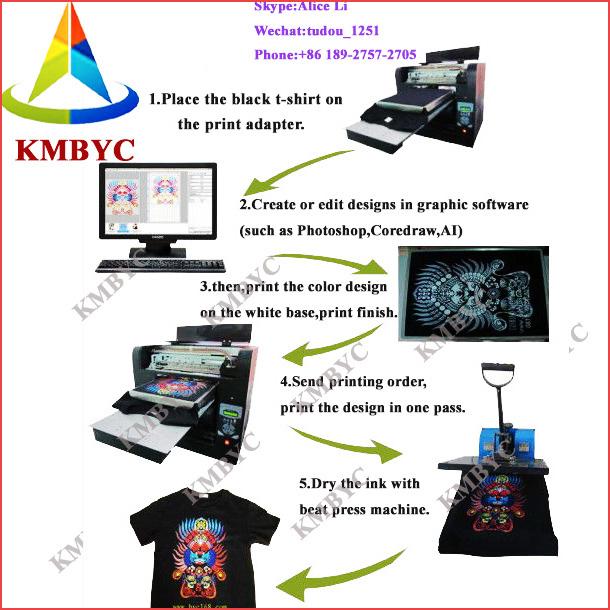 3d t shirt printer a3 size t shirt logo printing machine prices