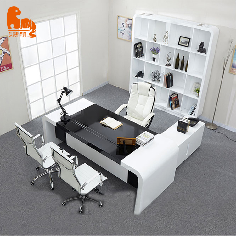 black glossy executive desk for boss use desk