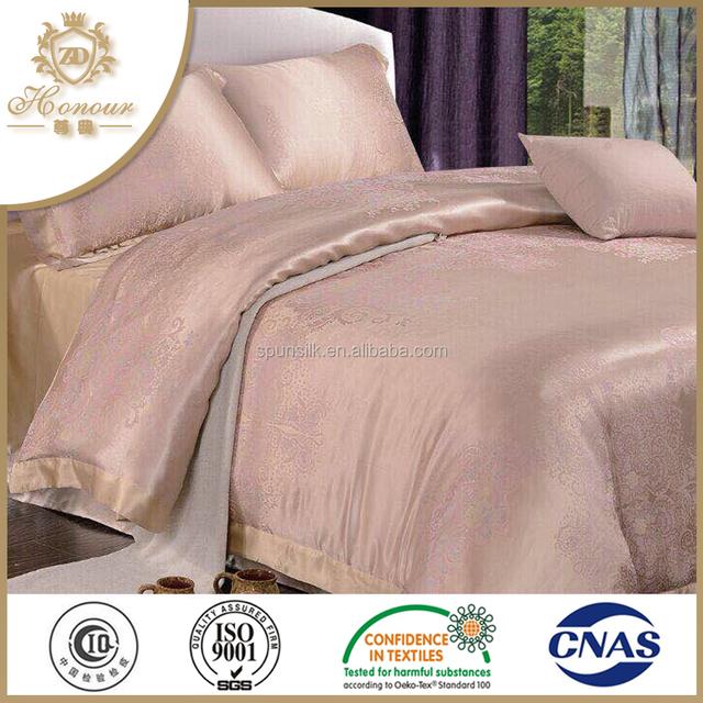 Bed Sheet Set 100% Silk Bedding Set Bed Comforter Luxury Textile