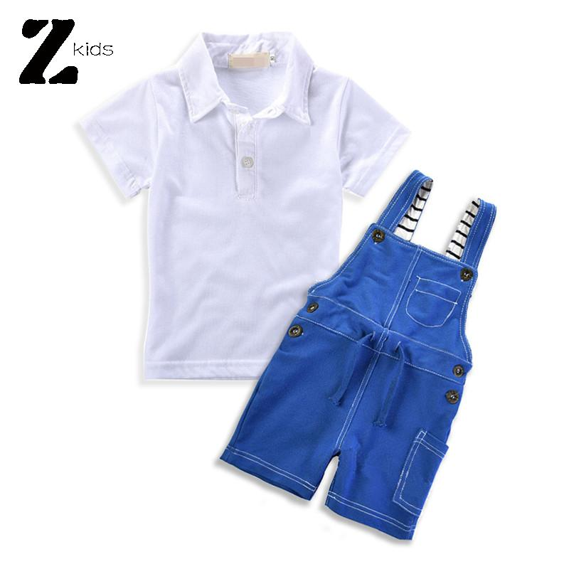 4abebd897cdc5 Get Quotations · New 2015 Hot Summer Bib Overalls Boy Children Clothing Set  Polo Kids Tees Shirt + Short