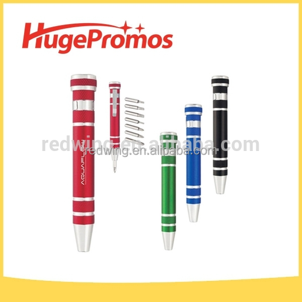 Promotional Portable 8 in 1 Pen Shaped Screwdriver Tool