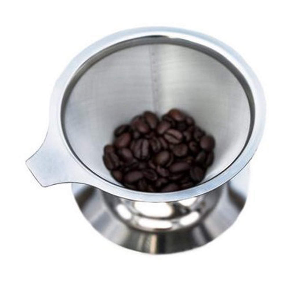 Metal Durable Pour Over Cold Brew Coffee Filter 4 Cups