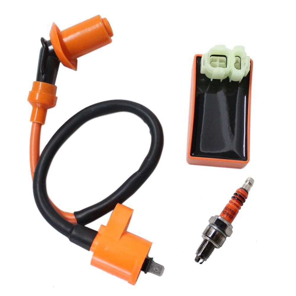 New Pack of Racing Cdi + Ignition Coil + Spark Plug for Honda Xr Crf Crf50 Xr50 Xr70 Xr80 Xr100