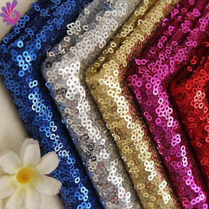3mm wholesale gold mesh sequin fabric for wedding/events and party