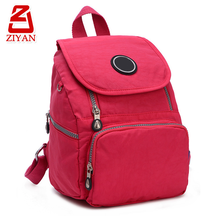 2017 New design waterproof ladies' school bags magnet flap korean bag style fashionable backpacks for college girls