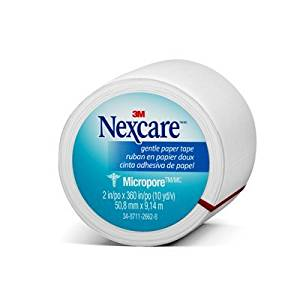 Nexcare(TM) Micropore(TM) Paper First Aid Tape, 530-P1/2, 2 in x 10 yds, Wrapped You are purchasing the Min order quantity which is 24 RLS