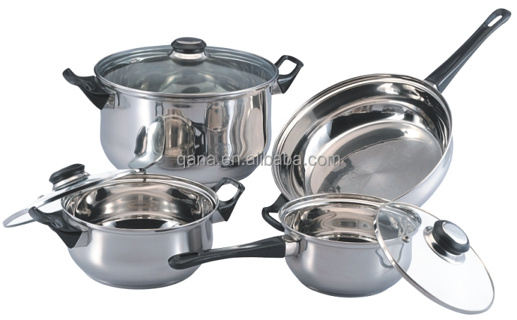 Induction Cooking Pots ~ Induction cookware set stainless steel cooking pan and