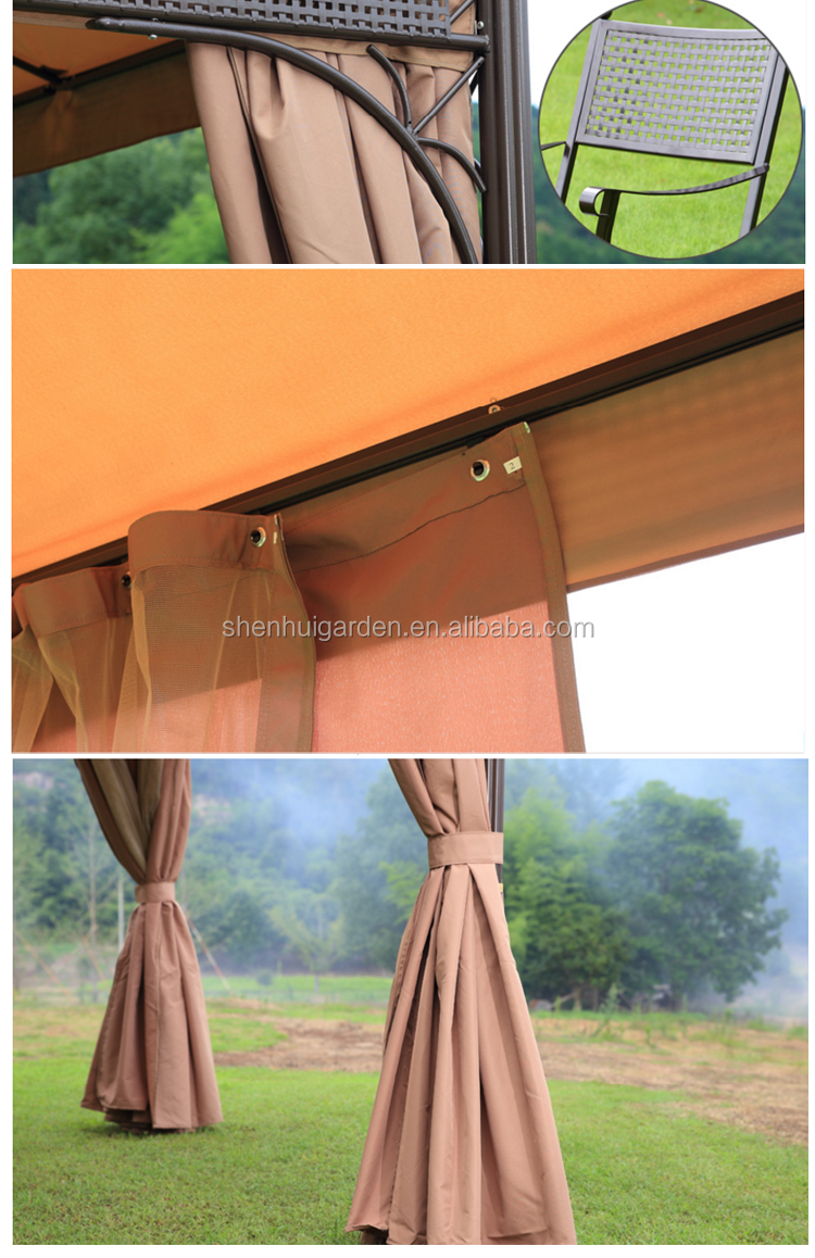 Hot Sale with low price with double weather cloth metal aluminum frame umbrella rooftop tents