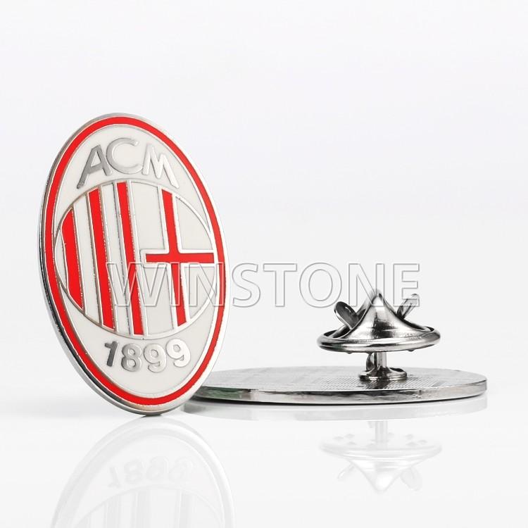custom enamel football club metal lapel pin badge