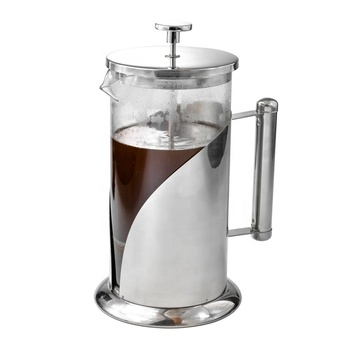 304 Stainless Steel French Press Coffee Maker With High Borosilicate Glass And Reusable Filter