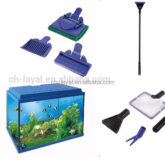 Fish & Aquariums Sensible Aquarium Cleaning Kit Fish Net Tank Rake Algae Scraper Sponge Brush Tools 5in1