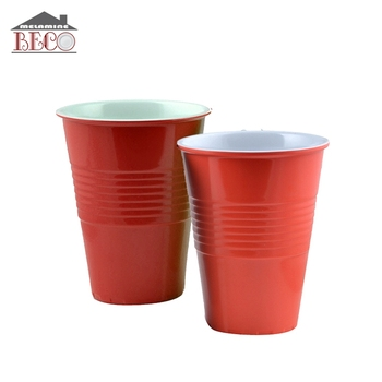 Wholesale Food Grade Round Red Plastic Melamine Solo Cup