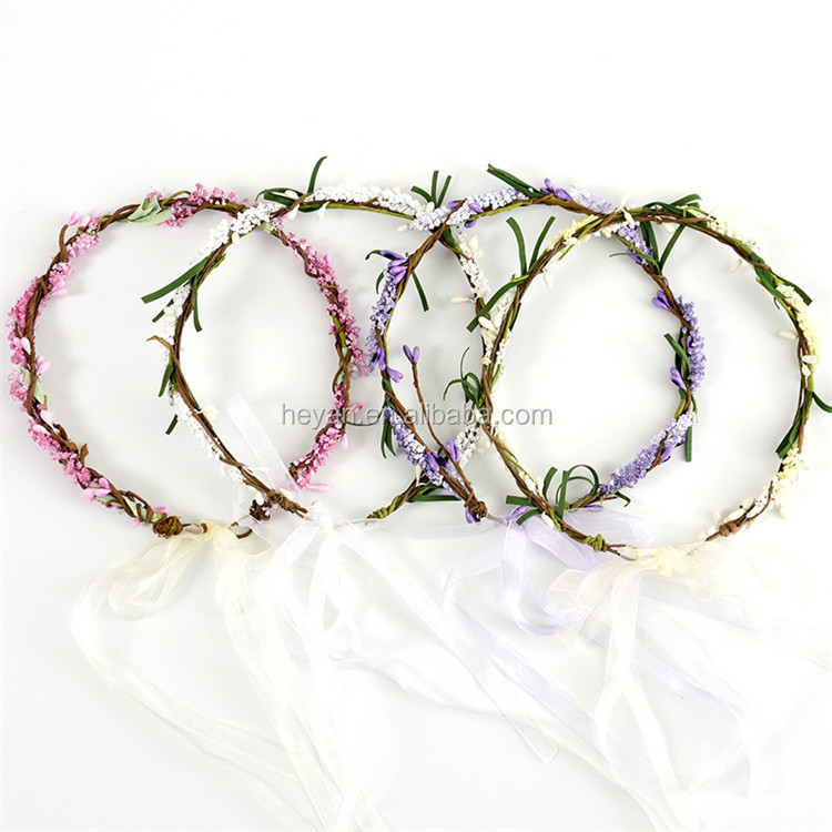 Top fashion braided flower headband crown for sale
