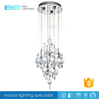 Baccarat style glass pendant lamp,modern crystal glass chandelier light 2112212