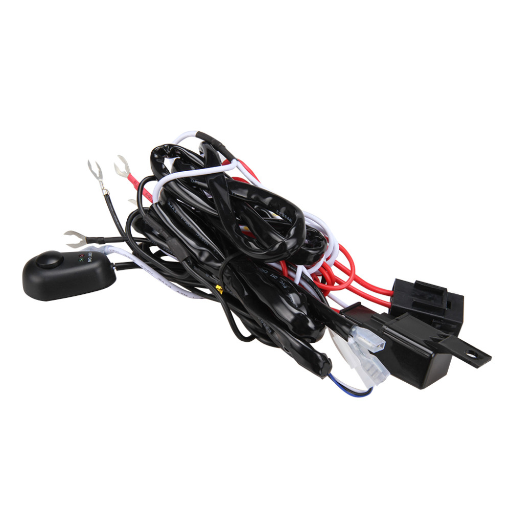 Universal Car Fog Light Wiring Harness Kit Loom For Led