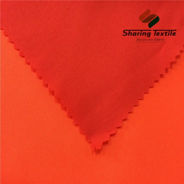 Wholesale Polyester Bright Orange Fabric/Polyester Safety Orange Fabric/Polyester Hi-Vis Orange Fabric
