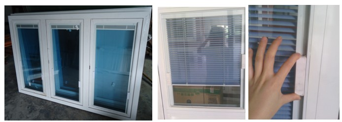 Aluminum Casement Windows With Built In Blinds Inside