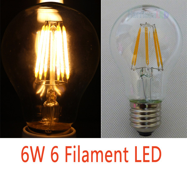 A19 Full Glass Sapphire Cob Filament Led Light Bulbs Replace ...