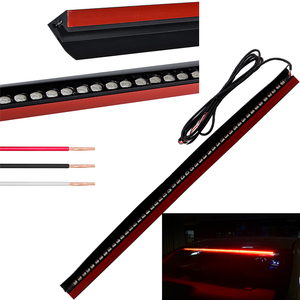 91cm silicone red fixed light 12V strobe bar car tail stop high mounted parking lamp