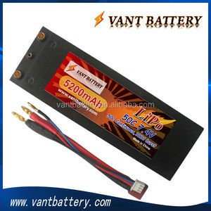 Wholesales price 5200mah 2S 7.4V 50C LiPo battery for rc car hard case