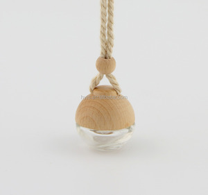 5ml hanging wooden cap car perfume bottle