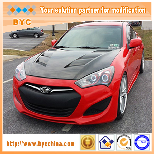 Byc Carbon Fiber Hood For Hyundai Genesis Coupe 2013 Up Vis Style ...