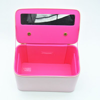 Hot popular women fashion professional pu trolley makeup case with lights