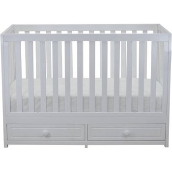 China Custom Made Baby Cot Design In Solid Wooden With Drawers