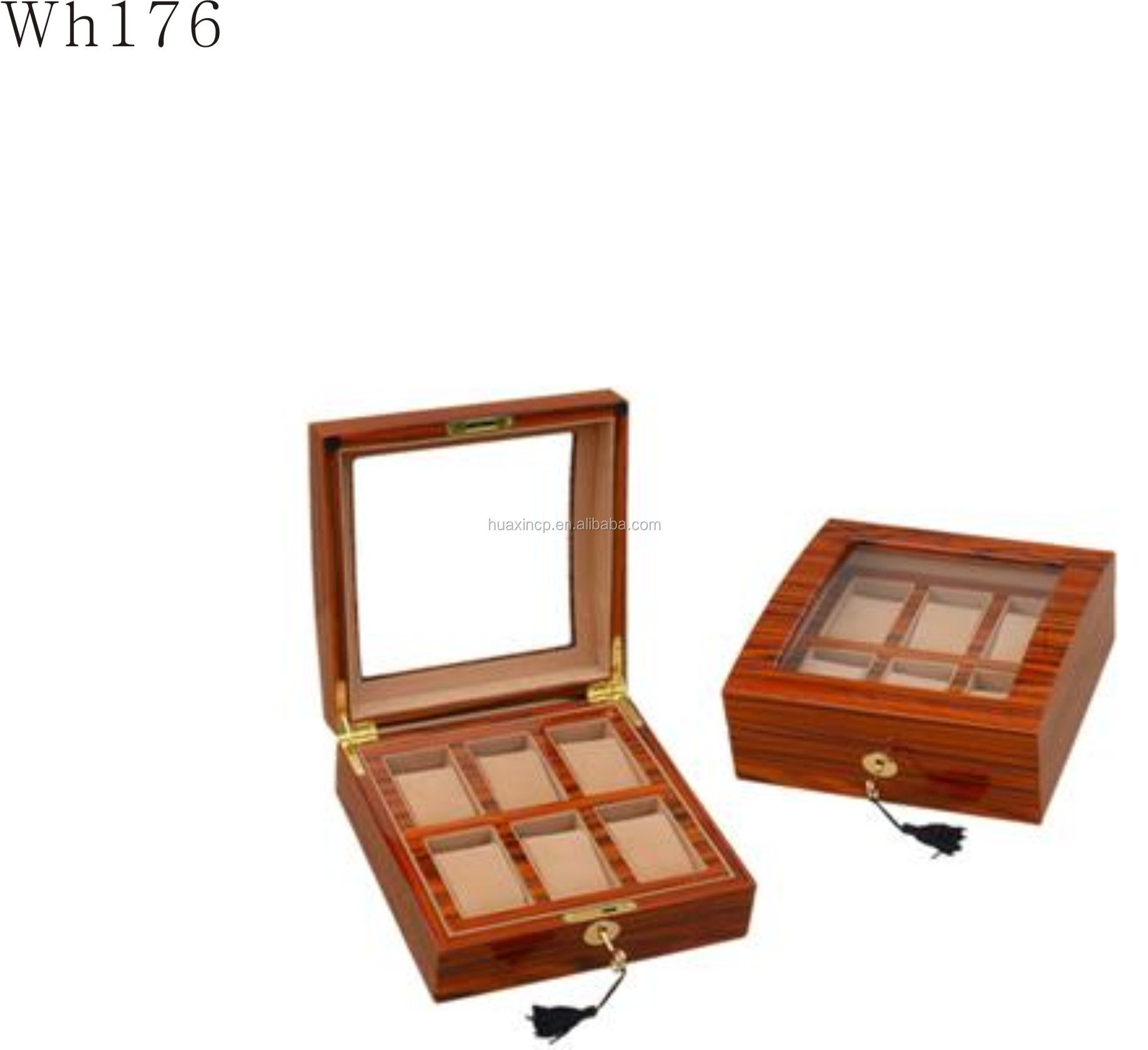 large wooden watches presentation case