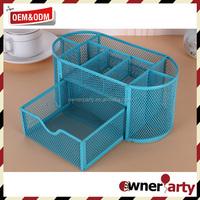 Metal mesh squareness pen holder desk organizer ,multifunction pen holder for sale