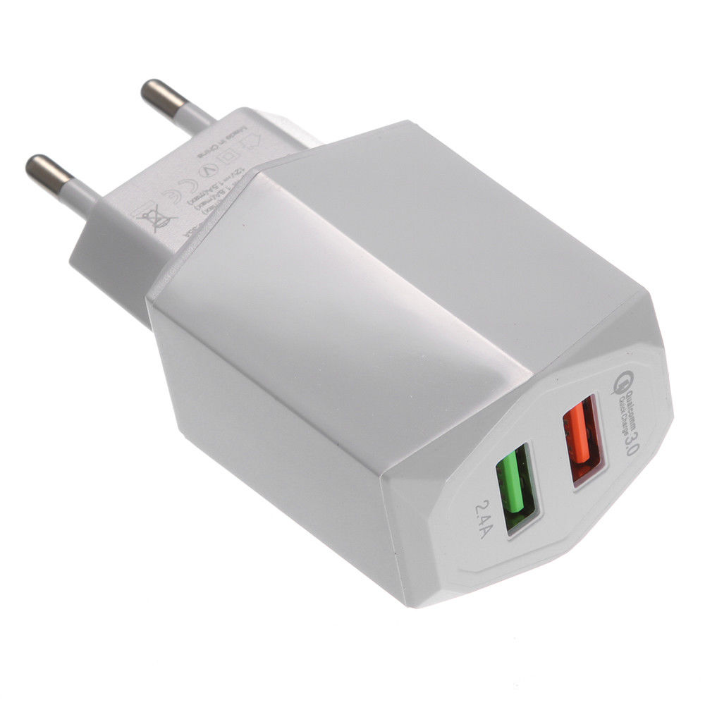 Tipe C PD USB 18 W Charger Dinding QC3.0 Travel Charger Usb Cepat Pengisian 5 V 3A 5 V 2.4A Dual USB Port Cepat Charger Cepat