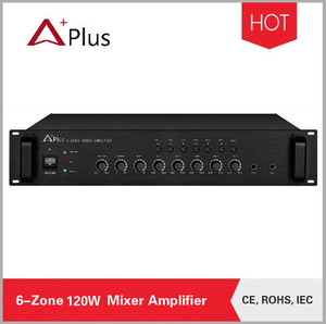 AP-6Z120 120W 6-Zone mixer amplifier for sound system