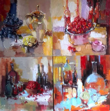 Classical impressionist still life fruit handmade oil painting for home decoration
