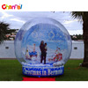 New human size snow ball globe giant inflatable snow globe for christmas